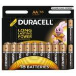 Батарейка DURACELL Alkaline, LR6 (АА, 1.5 В, упак. 18шт., тип: щелочная)