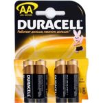Батарейка DURACELL Alkaline, LR6 (АА, 1.5 В, упак. 4шт., тип: щелочная) BL4