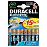 Батарейка DURACELL TURBO LR3 (АAА 1,5 В упак 8шт тип щелочная)