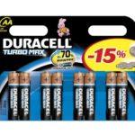 Батарейка DURACELL TURBO LR6 (АА 1,5 В упак 8шт тип щелочная)
