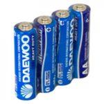 Батарейка Daewoo R-6 (AA 1,5 В упак 60шт тип солевой)