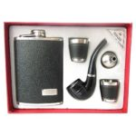 Набор подарочный  Фляжка+2стопки+Воронка+ Курительная трубка YH 017 / 25482