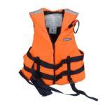 Спасательный жилет  М4, взрослый с воротником, цвет жилета сигнальный, M ( до 60 кг)